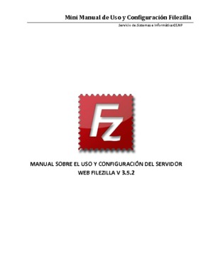 Mini Manual de Uso y Configuración Filezilla