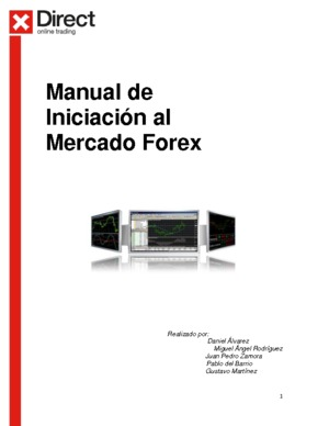 Manual de Iniciación al Mercado Forex