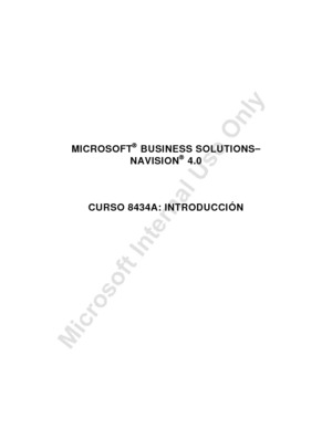 MICROSOFT® BUSINESS SOLUTIONS− NAVISION® 4.0