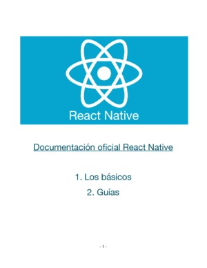 Documentación oficial React Native 1 y 2