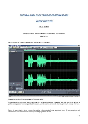 Tutorial para el filtrado de psicofonías con Adobe Audition
