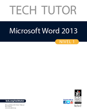 Microsoft Word 2013 – Nivel 1