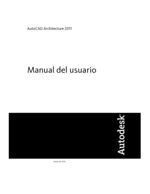 Manual del Usuario, AutoCAD Architecture 2011