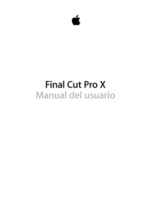 Final Cut Pro X - Manual del usuario