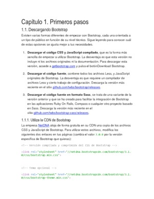 Bootstrap 3.0 – El manual oficial