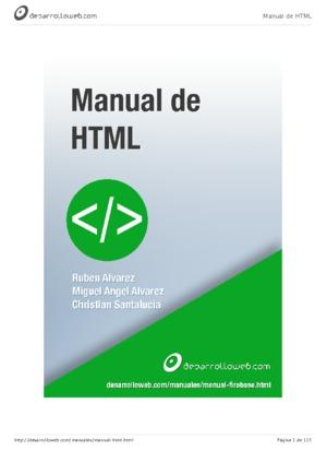 html tutoriales en pdf rh tutorialesenpdf com descargar manual html y css pdf descargar manual de html5 en español