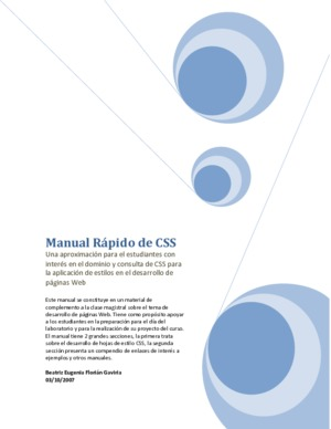 Css tutoriales en pdf manual rpido de css malvernweather Image collections