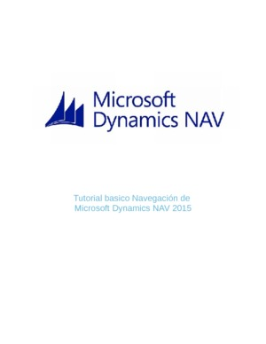 Microsoft Dynamics NAV - Tutoriales en PDF