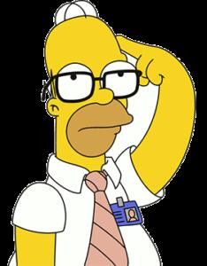 Homer pensando